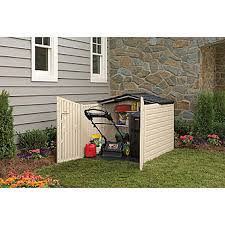 Rubbermaid Horizontal Storage Shed Instructions by Rubbermaid 1800005 Outdoor Resin Slide Lid Storage Shed 4 U00277