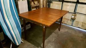 Extendable Dining Table And 4 Leather Chairs