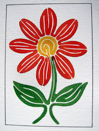 Line Painting Flower