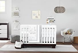 amazon com just born animal kingdom 3 piece crib bedding set