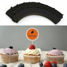 Image Is Loading 50pcs Laser Cut Cupcake Wrappers Music Notes Muffin