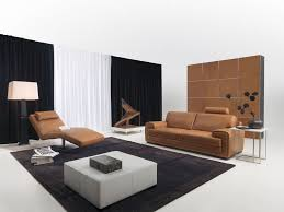magnificent black and white living room theme with light brown