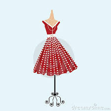 Retro Polka Dot Dress Stock Photos Image 13333133