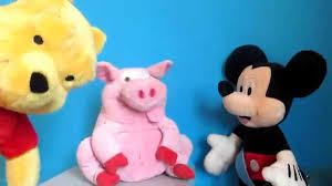 130 Best Winne The Pooh by Videos For Kids Winnie The Pooh Toy And Mickey Mouse Watching Pig