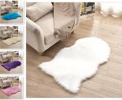 unregelmäßigen weiche künstliche schaffell teppich teppich stuhl abdeckung künstliche wolle warme decke haut pelz wohnzimmer teppich