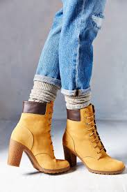 timberland women u0027s high heel boot lace up closure suede body