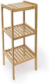 druline bambus holz regal ca 75 x 33 x 33 cm 3 ablagen stand regal badezimmer aufbewahrung badregal