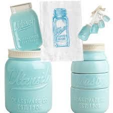 Amazon Mason Jar Decor Set Ceramic Measuring Cups Spoons Spoon Rest Utensil Crock Flour Sack Kitchen Towel Hand