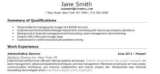 Gallery Of Sales Resume Summary Qualifications Examples 19 For