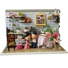 Amazoncom HeroStore DIY Doll House Wooden Doll Houses With LED