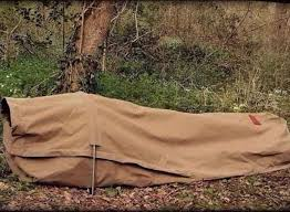 Cowboy Bed Roll by Canvas Bedroll The Adventurer Canvas Bedroll Shown In Use As A