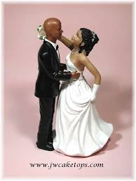 Lovesong African American Bride And Groom Cake Topper Wedding