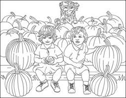Pumpkin Patch Coloring Pages by Halloween Coloring Pages