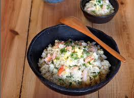 cuisine japonaise recette du riz sauté au crabe à la japonaise