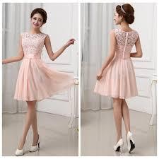 2015 new women lace chiffon fold dress elegant fashion white pink