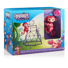 Fingerling Monkey Set Of 3 WowWee Fingerlings Bella And Finn Jungle Gym With
