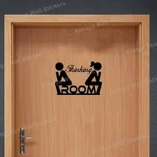 vinyl wall stickers funny wc toilet door sign man woman thinking