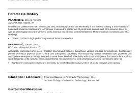 Emt Resume Sample Lofty Inspiration Examples With Medical Samples Instructor