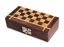 Christmas Gifts Classic Wooden Handcrafted Chess Set Board Game With Storage Travel Accessory Toys Kids