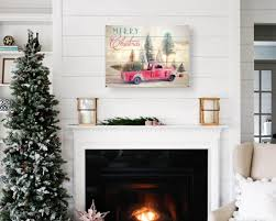 Elgin Christmas Tree Farm Facebook by Christmas Sign Wood Plank Art Christmas Red Truck And Trees