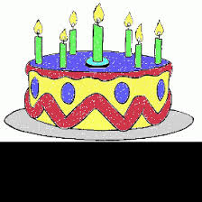 birthday coloring cake seven candles 5