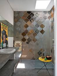 decorating bathroom play with color shape and structure