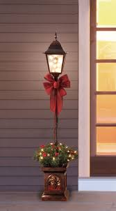 Puleo Christmas Tree Instructions by Holiday Time Pre Lit 4 U0027 Christmas Lamp Post Tree Clear Lights