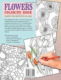 Amazon Flowers Coloring Book Beautiful Pictures From The Garden Of Nature Chartwell Books 0039864030410 Patience Coster