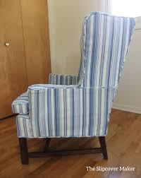 Woven Stripe Canvas Slipcover | Slipcovers, Custom ... Sure Fit Stretch Stripe Wing Chair Slipcover Walmartcom Fniture Armless For Room With Unique Striped Wingback Beachy Blue White Surefit Sage Double Diamond Slipcovers Navy Parsons Used Moving Piqu One Piece Form Machine Washable Shop Ticking Free Indoor Chairs Covers Maytex Pixel 1 Back Arm Complete Your Collection Custom By Shelley Wingback Chair