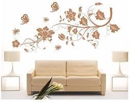 dekoration blumenranke 2 farb ranke blumen schlafzimmer