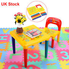 Crayola Wooden Table And Chair Set Uk by Childrens Table U0026 Chairs Kids Furniture Ebay
