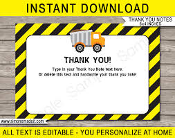 Printable Construction Party Thank You Cards | Construction Birthday Mud Trifle And A Dump Truck Birthday Cake Design Parenting Diy Awesome Party Ideas Pinterest Truck Train Cookies Firetruck Dump Kids Cassie Craves Dirt In Cstruction With Free Printable Shirt Black Personalized Stay At Homeista Invitations Dolanpedia The Mamminas A Garbage Ideal For Anthonys Our Cone Zone