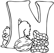 Alphabet N Coloring Pages Street Letter Colouring