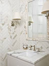 calcutta gold marble transitional bathroom artistic tile