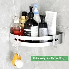 3 stücke duschregal aus aluminium in silber badezimmer