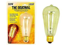 buy the feit elec bp60st19 vintage style light bulb clear 120v