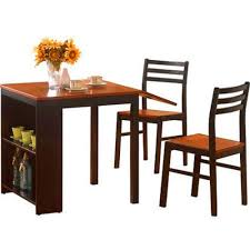 Amazon.com - BS Drop Leaf Dining Table With Chairs Shelves Storage ...