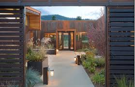 rustic wall sconces add delightful touch to landscape lighting