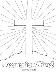 Christ Centered Easter Coloring Pages Bible Free Biblical