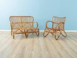 bambus wohnzimmer set 1950er 2er set