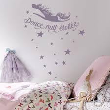 pochoir chambre bébé sticker enfant sticker douce nuit étoilée