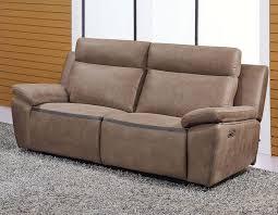 canapé 3 places relax electrique canapé marron relax en pu et cuir douglas hcommehome