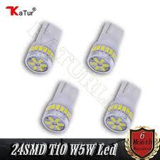 4pcs 250 lumens t10 led bulb car interior lighting dashboard