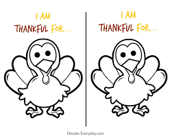 Thankful Turkey Printable Thanksgiving Coloring Pages Pdf Feather Outline Template Free Full Size
