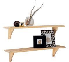 buy home 89cm set of 2 wooden shelves unfinished pine at argos