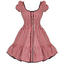 hell bunny maude ladies new red gingham 50s vtg rockabilly