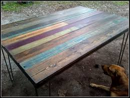 Elegant Reclaimed Painted Wood Furniture Custom Salvaged Dining Table Or Desk With Paint And