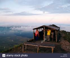 100 Bali Tea House Volcano Mount Batur Morning Indonesia Stock
