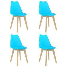 esszimmerstühle 4 stk blau kunststoff