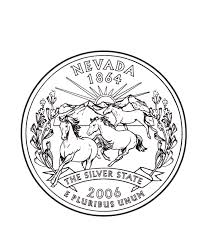 Nevada State Quarter Coloring Page